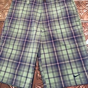 Nike Golf Tour Performance Dri-Fit Plaid Shorts